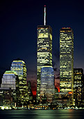 USA, New York City, Manhattan & World Trade Center, view from New Jersey, Photo Nr: nyc014