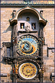 Prague, Prag, Praha, Old Town Square, Town Hall Tower, Astronomical Clock Detail (Orloj), Photo Nr.: prague008