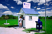Smallest Post Office in the United States, Kleinstes Postamt Amerikas, Florida, USA, Photo Nr.: usa103