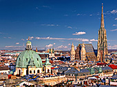 Austria, Vienna, Stephansdom (St. Stephan's Cathedral), left: Peterskirche, Photo Nr.: W1205