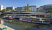 Vienna, Donaukanal, Twin City Liner, Anlegestelle, Photo Nr.: W5700