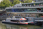 Vienna, Donaukanal, Twin City Liner, Anlegestelle, Photo Nr.: W5701