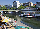 Vienna, Donaukanal, Twin City Liner, Anlegeplatz, Photo Nr.: W5702