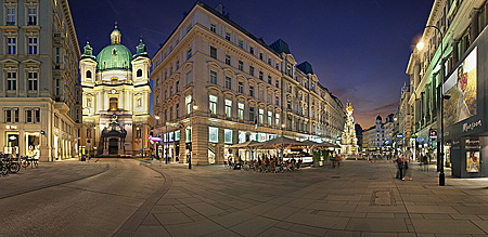 Vienna, Peterskirche, Graben, Pestsäule, Photo Nr.: W5717