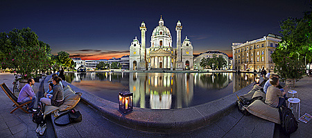Vienna, Karlskirche, Photo Nr.: W5769