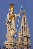 Austria, Vienna, Athena statue at the parliament, Photo Nr.: W1524