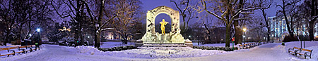 Vienna, Johann Strauss Monument im Winter, Stadtpark, Photo Nr: W4841