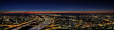 Vienna Panorama, View from Leopoldsberg, Photo Nr.: W5266