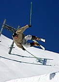 Snowboarder in the Alps, Glacier ski area (Gletscherskigebiet) Zugspitzplatt, Photo Nr: a185