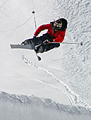 Snowboarder in the Alps, Glacier ski area (Gletscherskigebiet) Zugspitzplatt, Photo Nr: a187