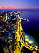 Chicago, View from John Hancock Tower on Lake Shore Drive, Photo Nr.: chic044