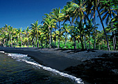 Hawaii, Big Island, Punaluu Beach Park, (Black Sand Beach), Photo Nr.: haw002
