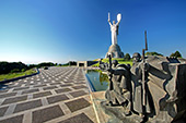 Kiev, Kiew, Museum of the Great Patriotic War, Statues at the memorial complex depicting the 1943 Battle of the Dnieper, The Motherland monument, Photo Nr.: kiev139