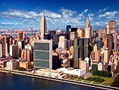 USA, New York City,  UNO Building, Empire State Building, Upper East Side, view from Helicopter, Photo Nr: nyc006