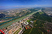 Austria, Vienna, Praterpark, Ernst Happel Stadion, Stadioncenter, Autobahn A23, Photo Nr.: W2456