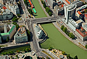 Austria, Vienna, Urania, Uniqua Tower, Donaukanal, Wienfluss, Photo Nr.: W2495