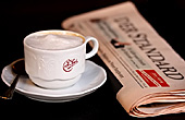 Austria, Vienna, Cafe Sperl, Cafe, Zeitung, Standrad, Photo Nr.: W4722