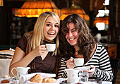 Austria, Vienna, Vienese Breakfast, People, Girls, Cafe Sperl, Photo Nr.: W4732