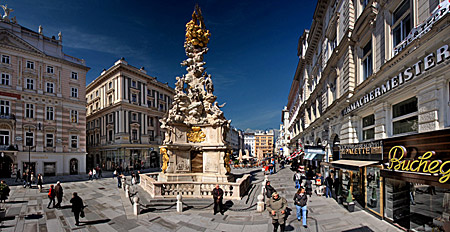 Vienna, Am Graben, Pestsäule, Photo Nr.: W4918